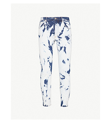 LOEWE Loewe x 威廉莫里斯漂白修身版型紧身牛仔裤 (漂白 + 靛蓝