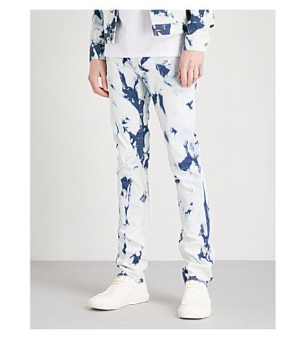 LOEWE Loewe x William Morris bleached slim-fit skinny jeans (Bleached+indigo
