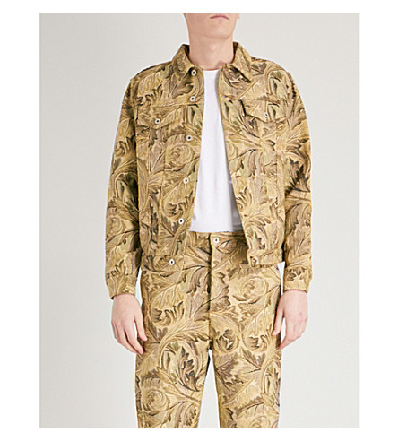 LOEWE Loewe x William Morris Acanthus-jacquard denim jacket (Multicolour