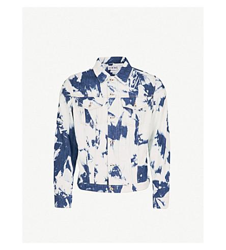LOEWE Loewe x William Morris bleached denim jacket (Bleached+indigo