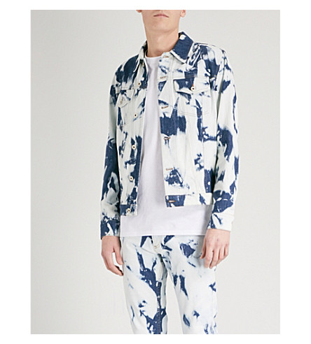 LOEWE Loewe x William Morris bleached denim jacket (Bleached+indigo
