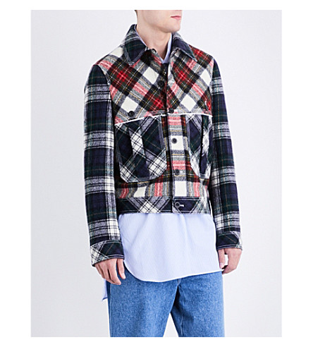 LOEWE Tartan wool jacket (Multi+colour
