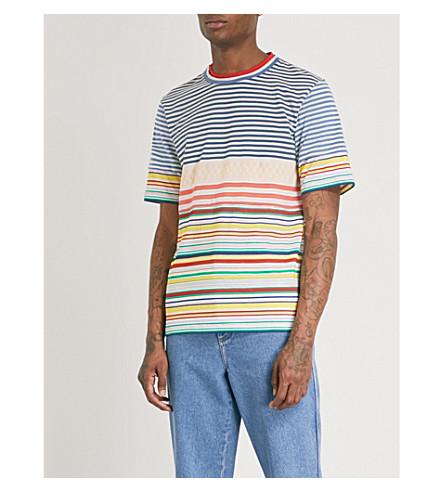 LOEWE Striped cotton-jersey T-shirt (Multicolour