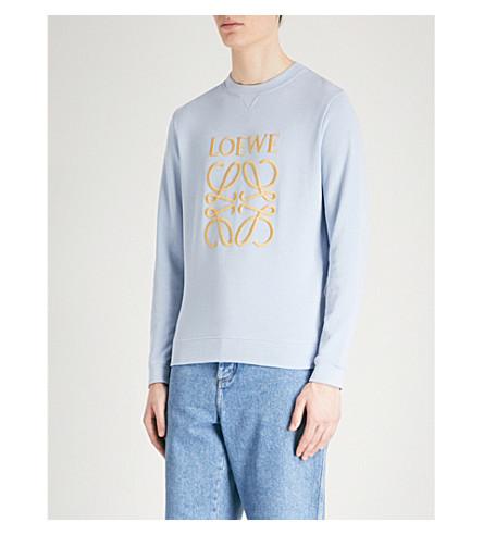 LOEWE Logo-embroidered cotton-jersey sweatshirt (Lavender