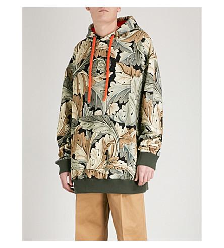 LOEWE Loewe x William Morris Acanthus-print cotton-jersey hoody (Multicolour