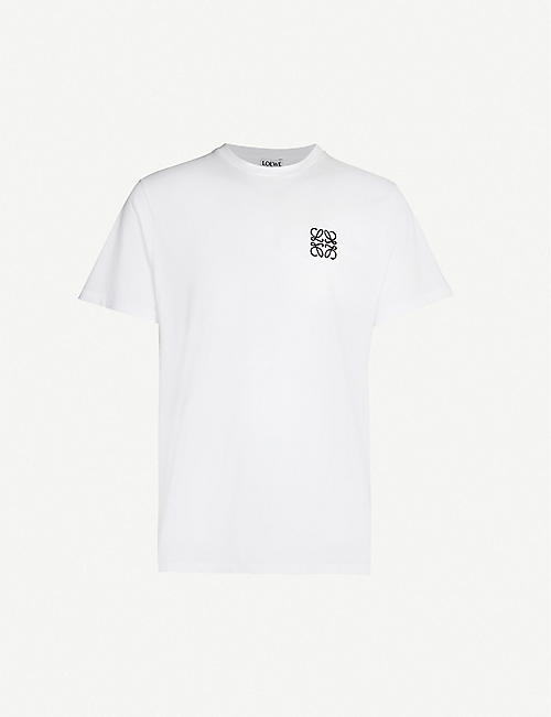 LOEWE: Logo-embroidered cotton-jersey T-shirt