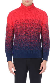 TOMORROWLAND Roll-neck two-toned jumper