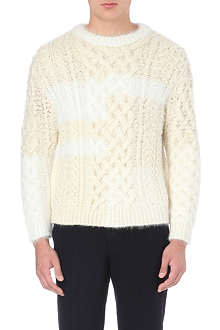 TOMORROWLAND Contrast-colour cable-knit jumper