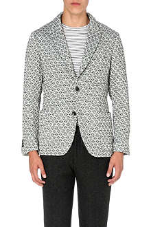 TOMORROWLAND Geo-jacquard three-pocket blazer