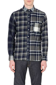 BEAMS PLUS Contrast check-patterned shirt