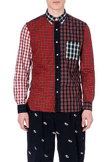 BEAMS PLUS Patchwork regular-fit cotton shirt