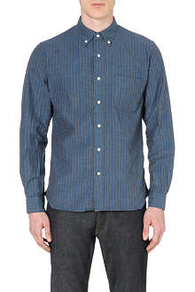 BEAMS PLUS Striped regular-fit cotton shirt