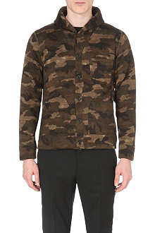 BEAMS PLUS Shawl collar camo-print cardigan