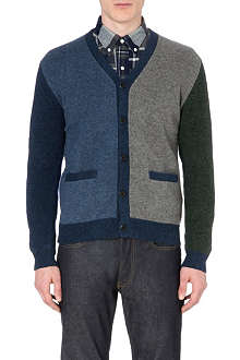 BEAMS PLUS Colour-blocked knitted cardigan
