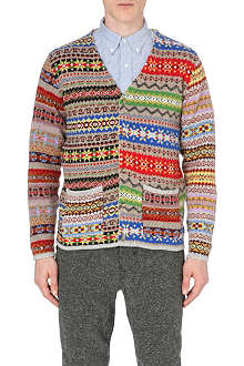 BEAMS PLUS Fair Isle knitted cardigan