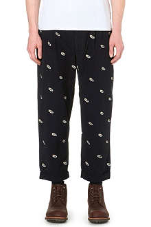 BEAMS PLUS Shoe-embroidered cotton trousers