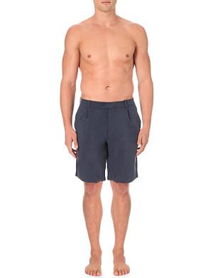 LA PERLA Cupro bermuda shorts