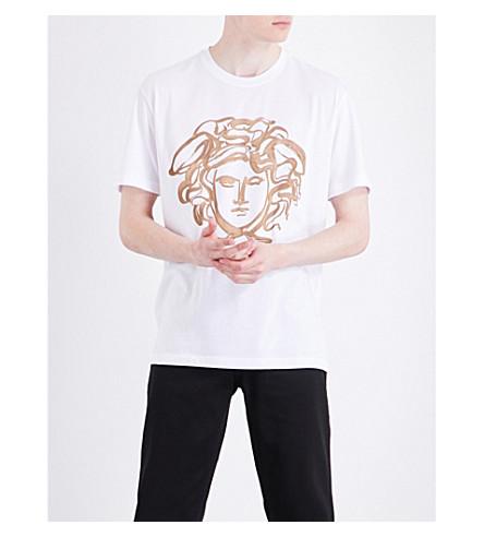 VERSACE Medusa-print cotton-jersey T-shirt (White