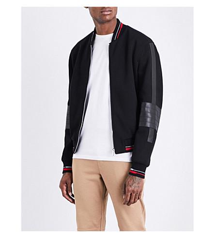 VERSACE Medusa-print neoprene bomber jacket (Black
