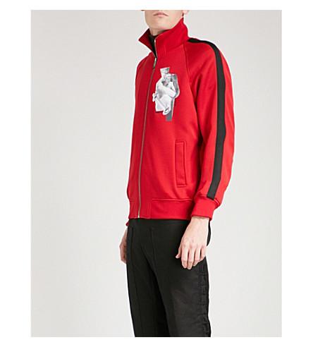 VERSACE Zip-up woven jacket (Rossogeranio