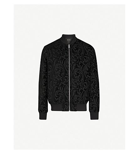 VERSACE Devoré bomber jacket (Black