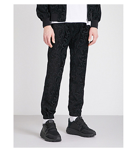 VERSACE Relaxed-fit jacquard jogging bottoms (Black