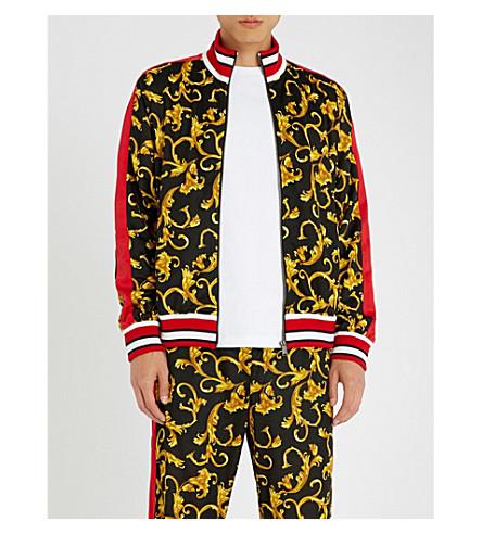 VERSACE Baroque-print jersey tracksuit jacket