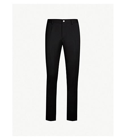 VERSACE Slim-fit tapered wool pants (Black