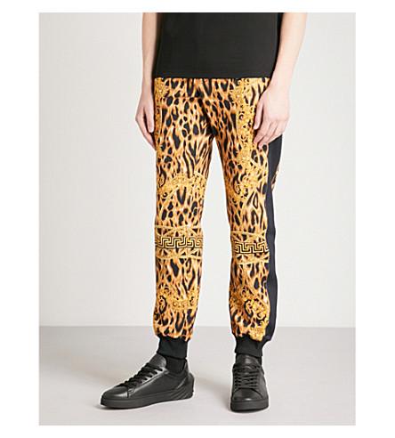 VERSACE Lamyland cotton-jersey jogging bottoms (Black+gold