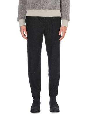 CASELY-HAYFORD Flecked wool-blend trousers