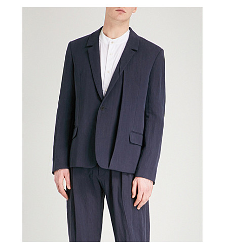 CHALAYAN Folded regular-fit stretch-cotton jacket (Midnight