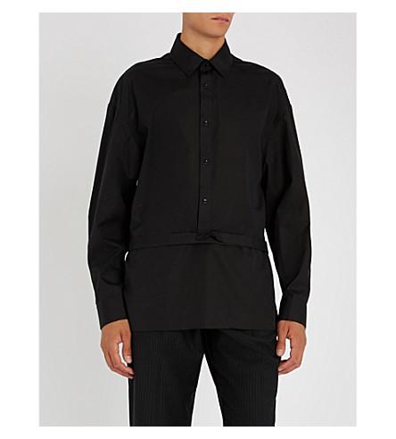 CHALAYAN Half-buttoned regular-fit cotton shirt (Black