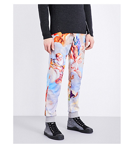 MOSCHINO Cherub-print jersey jogging bottoms (Multi