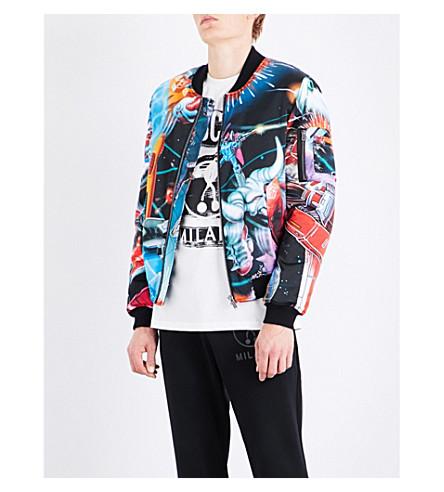MOSCHINO Transformers shell bomber jacket (Blue
