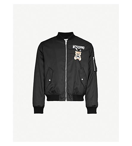 MOSCHINO Bunny Bear shell bomber jacket (Black