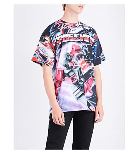 MOSCHINO Robot cotton-jersey T-shirt (Blue