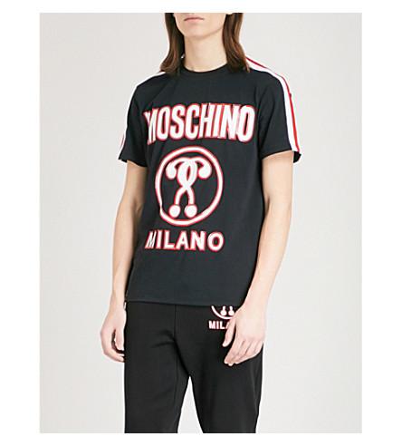 MOSCHINO Logo-print cotton-jersey T-shirt (Black