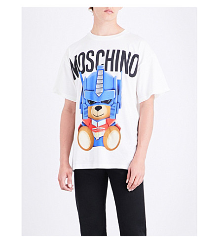 MOSCHINO Transformer Teddy cotton-jersey T-shirt (White