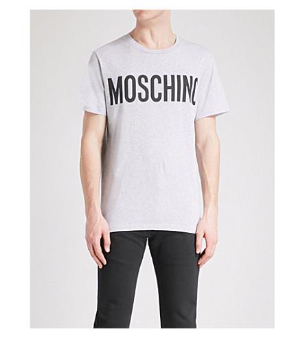 MOSCHINO Logo-print cotton-jersey T-shirt (Grey