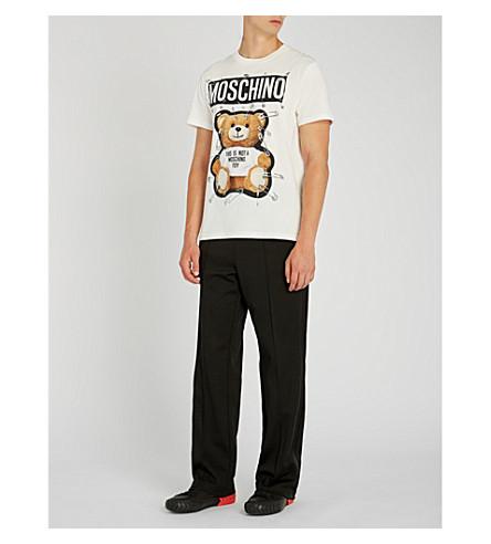 MOSCHINO Bear-print cotton-jersey T-shirt (White