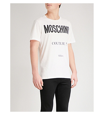 MOSCHINO Couture Logo cotton-jersey T-shirt (White