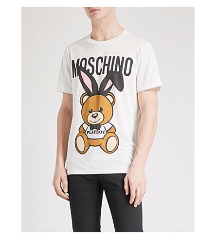 MOSCHINO Bunny Bear cotton-jersey T-shirt (White
