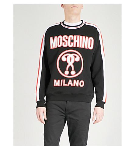 MOSCHINO Logo-print cotton-jersey sweatshirt (Black