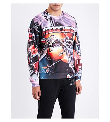 MOSCHINO Transformers-print jersey sweatshirt (Multi