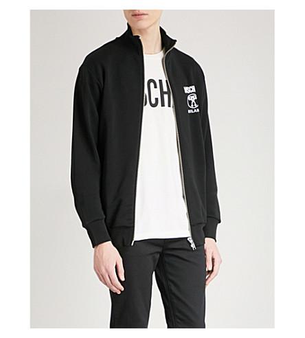 MOSCHINO Double logo cotton-jersey sweatshirt (Black