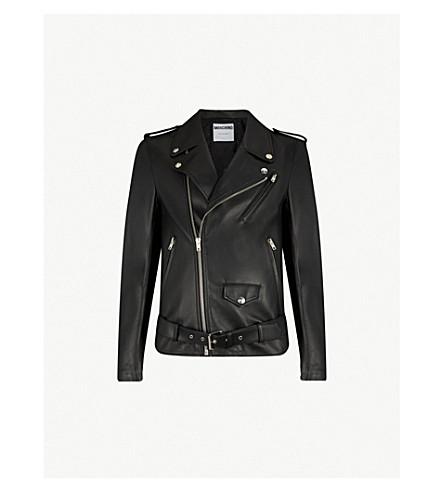 MOSCHINO Corseted leather jacket (Black