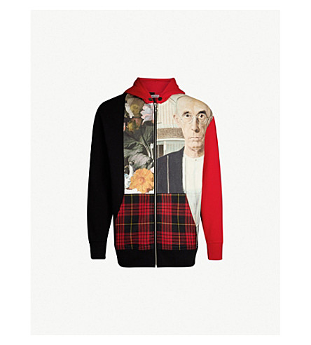 PALM ANGELS American Gothic-print cotton-jersey hoody (Multicolour no colour
