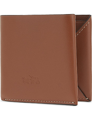 COACH Leather billfold wallet