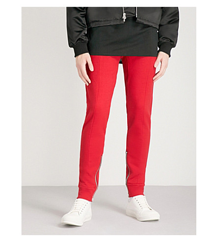 FEAR OF GOD Panelled cotton-jersey jogging bottoms (Red