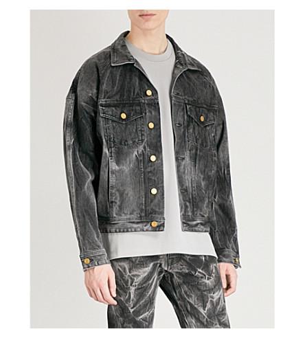 FEAR OF GOD Holy Water denim trucker jacket (Black